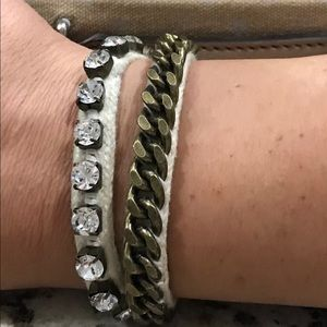 Fossil Wrap Bracelet with Button Clasp